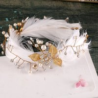 ariel wedding dress - The bride headdress feathers Angel ariel wedding tiara Hair hoop amount act the role ofing Wedding dresses and product number