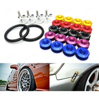 Wholesale 4PC Sets Quick Release Fasteners For Car Bumpers Trunk Fender Hatch Covers Kit Car Exterior Accessories Colors Options
