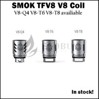 baby tank - 100 Original SMOK TFV8 replacement coil V8 Q4 V8 T6 V8 T8 coils heads for smoktech tfv8 Cloud Beast atomizer TFV MINI tank TFV8 baby TFV4