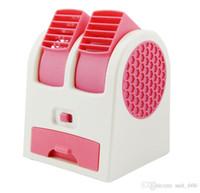 Wholesale Refrigeration mini air conditFan Mini Pocket air conditioning and refrigeration USB bladeless fan students portable battery small fan office