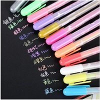 album suppliers - Office School Supplier DIY Albums Gel Pens Diary Candy Color Pens Water Chalk Highlighter Art Markers Pen ARC283
