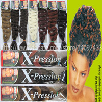 Wholesale kanekalon hair extension braid G inches xpression Ultra Braid super Jumbo Braids Synthetic braid hair extnsion colors available