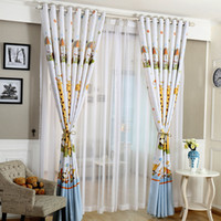 Wholesale 1Pcs Blackout Cortinas Cartoon Giraffe Curtains For Children Room Boy And Girl Room Voile Curtain Living Room Home Decor Sheer Curtains
