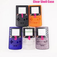Wholesale Clear Shell Housing Cover Cases for GBC Game Console High Quality Colorful Housing Shell Repairs for Game Boy Color