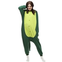 Wholesale Green Dinosaur Anime Cartoon Cosplay Costumes Comfy Leisure Animal Onesies Pajamas Jumpsuit for Teens Adults Mens Womens Tail Homewear Cheap