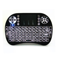 Wholesale Rii I8 Smart Fly Air Mouse Remote Backlight GHz Wireless Bluetooth Keyboard Remote Control Three Fingers Touchpad For Android Box MX3 M8S