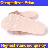 adhesive slides - Womens New Rihanna Fenty Leadcat Fur Indoor Pink Black White Slide Slippers Ladies Sexy Fashion Scuffs Sandals DHL