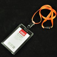 bag company names - Card Bag name badge card case Business Card Holder plastic passport cover with colorful nack lanyard company office supply