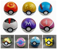 Wholesale 13 colors Pokeball toy pocket monster ball Cute Poke Go Ball Mini Model Classic Anime Pikachu Super Master Ball Action Figures Toys cm Z200