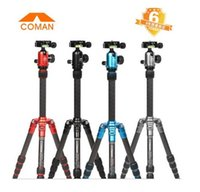 Wholesale Coman Tripod TM227A professional photographic tripod camera tripod camera mount a variety of colors for easy carrying