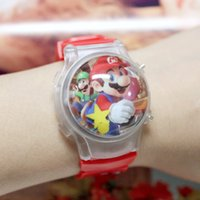 band mario - Children Watch Kid Digital Watches Super Mario Brothers Silicone band flashing water polo calendar table two colors