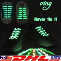 Wholesale Halloween LED Shoelaces Luminous LED Shoe Laces Disco Party Night Running Flash Light Up Glow Stick Strap Lazy Shoelaces XL T130