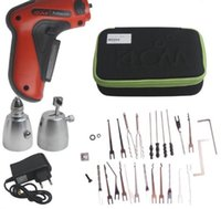 Wholesale 2016 NEW HOT KLOM Cordless Electric Lock Pick Gun Auto Pick Guns Lockpicking Locksmith Tools lock opening tools