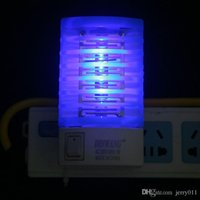 Wholesale LED Electric Mosquito Fly Bug Insect Trap Zapper Killer Night Lamp USA EU LT01122