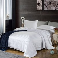 Wholesale hotel bedding cotton stripe bed sheet set