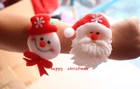 Wholesale FYF152 Christmas Decorations Christmas Patting Circle Christmas Children Gift Santa Claus Snowman Deer New Year Party Toys