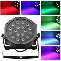 Wholesale 18 LED RGB PAR CAN DJ Stage DMX Lighting For Disco Party Wedding Uplighting E00179 SMA