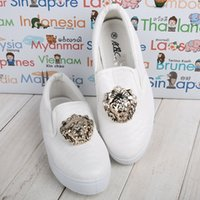 animal pedals - Fashion new Loafers snake print gold lions head metal decorative casual flat shoes a pedal woman shoes