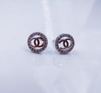 alphabet jewellery - Fashion Sterling Silver Plated Earrings Anti allergy CZ Cubic Zircon Earring Gem Rhinestone Crystal Ear Stud Jewelry Jewellery for Women