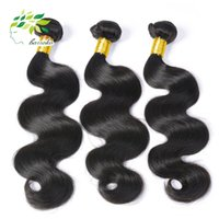 achat en gros de grade 7a vierges faisceaux de cheveux bresilien-Grade 7a Unprocessed Brazilian Virgin Hair Body Wave Natural Colore 4Pcs / 3 Bundles Brazilian Hair Weave Vente en gros des extensions de cheveux humains