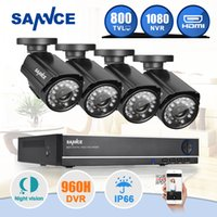 Wholesale SANNCE CH CCTV System H DVR TVL IR Weatherproof Outdoor CCTV Camera Home Security System Surveillance Kits