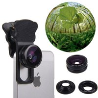Wholesale New Arrival in Universal x Mobile Phone Telescope Clip Camera Lenses X Wide angle Degree Fisheye Macro Lens