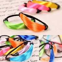 Wholesale 2016 Fluorescent color Women wig hair ring Fashion Colorful Girls Elastic Hair Bands Headwear Girl Ponytails Pony Tails Holder