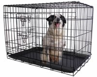 Wholesale 36 Doors Wire Folding Pet Crate Dog Cat Cage Suitcase Kennel Playpen Tray