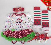 Bébés garçons filles vêtements ensembles Noël combinaisons bébé nouveau-nées robe de coton coton robe robes vêtements enfants jupe baptême Boutique GLS003
