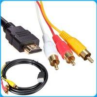 NOUVEAU 5 pieds 1080P HDTV HDMI mâle vers 3 RCA câble audio vidéo Câble AV plomb adaptateur convertisseur connecteur de câble composant Pour HDTV