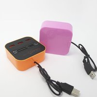 Wholesale USB Hub Combo All In One Multi card Reader With Ports For MMC M2 MS Blue Color DHL Free