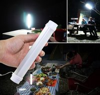 Wholesale 5V White LED Tube Emergency Lighting Portable LED Camping Lamp Build in Rechargeable Battery USB Charging Falshlight