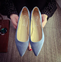 aa hooks spring - New Arrival Suede Women Flats Spring Shallow Mouth Women Pointed Toe Flat Shoes Casual Slip On Shoes Woman Sapato Feminino