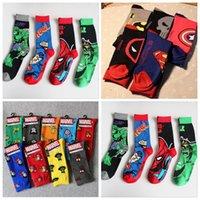 Wholesale Unisex Superhero Avengers Socks Batman Ironman Socks Hulk Skull Hosiery Spiderman Superman Thor Altman Socks Sports Cartoon Socks New B1080