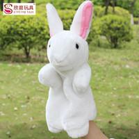 Wholesale 10pcs New cm Plush Toys Cute little rabbit bunny hand puppet wedding dolls have colors