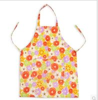 Wholesale print flower new cute print flower kitchen apron waterproof adult women cooking aprons Women s Bib Comfy Cooking Chef Floral