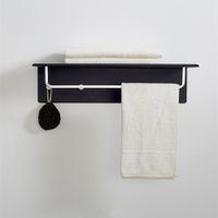 Wholesale DOUBLE WALL MOUNTED BATHROOM TOWEL RAIL HOLDER STORAGE RACK SHELF BAR HOOKS BEDROOM HIGH QUALITY