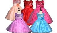 Wholesale baby girl summer dresses new arrival colors sleeveless dress size Princess dresses flower girls