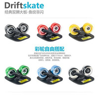 Wholesale Portable is suing Freeline Metal Drift Board Skate Wheels Matte enrolled Black Silver green blue yellow red