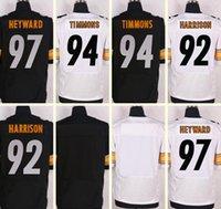 football jersey blank - 2016 New Men s Cameron Heyward Lawrence Timmons James Harrison Blank Black White Elite jerseys Top Quality