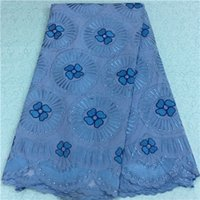 Wholesale by DHL high quality african swiss voile lace fabric with stones for Wedding dress LD w1894