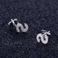 alphabet letters shapes - Value quot S quot Shape alphabet letter Handcraft custom logo Stud Post Promotion Silver Jewelry FE287