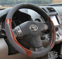 Wholesale universally cm Genuine leather PVC car set special Cool hand steering wheel cover k2 fabia cm universally