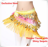 Wholesale Exclusive New Belly Dance Tassel Waist Belt Hip Scarf Wrap Chinese Wash and Ink Painting Style Colorful Dance Costume Accessories