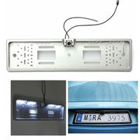 Wholesale Brand New Car LED Number Plate Frame Light Rear View Camera Backup Parking Reversing degree wide viewing angle