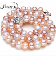 Perles roses France-reshwater grandes femmes collier véritable perle collier de perles naturelles blanc cadeau d'anniversaire de culture collier rose colar qualité