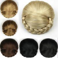 Wholesale European Fashion Style Classic Chignon Synthetic Hair Buns Hairpiece Clip In Hair Pieces Extension Afro Kinky Cabello Rizado