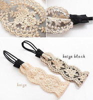 Wholesale fashion women headband lace flower hair band stylish vintage hair accessory for wedding bride