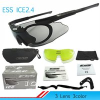 Wholesale Professional Sniper Cycling Glasses ESS ICE2 Bike Casual Goggles Outdoor Sports Bicycle Sunglasses UV With Lens TR90 SZ GZS02