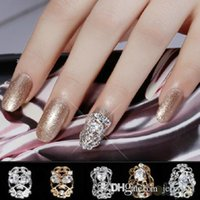 Wholesale 5PCS Girls Brides Zircon Metal Hollowed D Nail Art Tip Decoration Jewelry DIY Hot TL